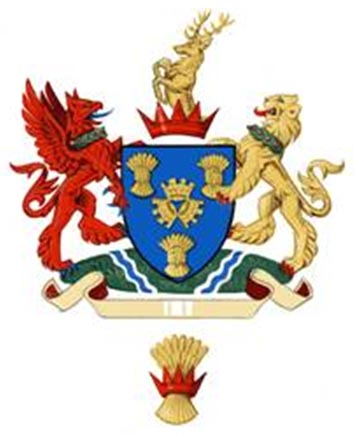 A proposed design for the Cheshire East Council's coat of arms.