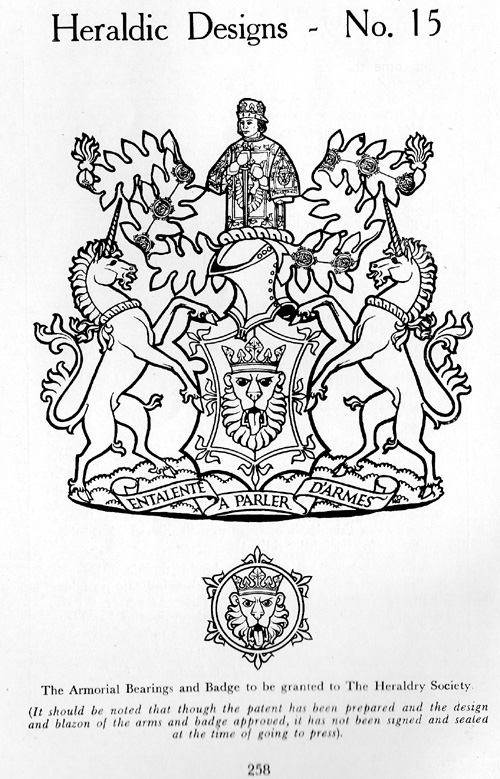 The Coat of Arms of The Heraldry Society