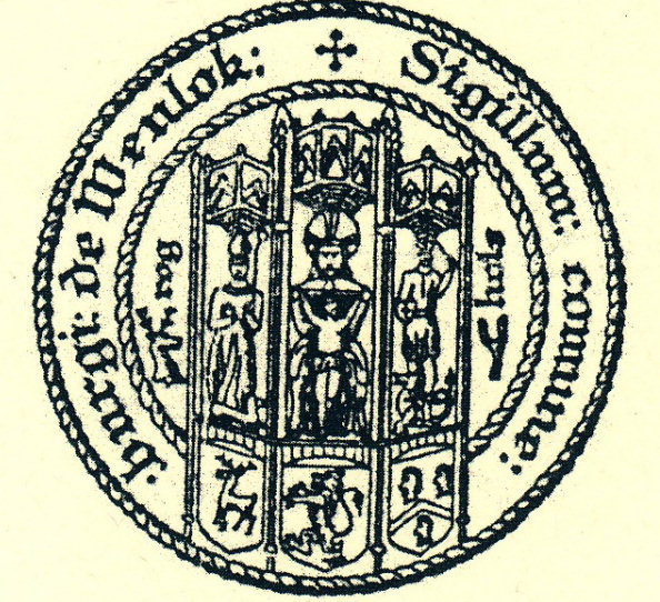 The ancient seal of the Borough of Wenlock