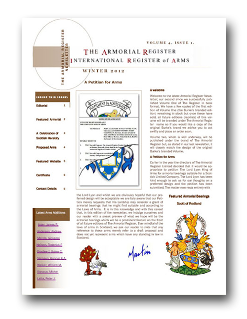Newsletter Armorial Register